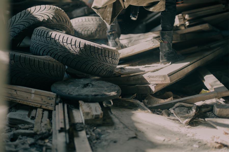 Síntomas anormales de deterioro del neumático